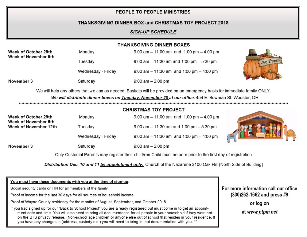 CTP & Thanksgiving Information Sheet